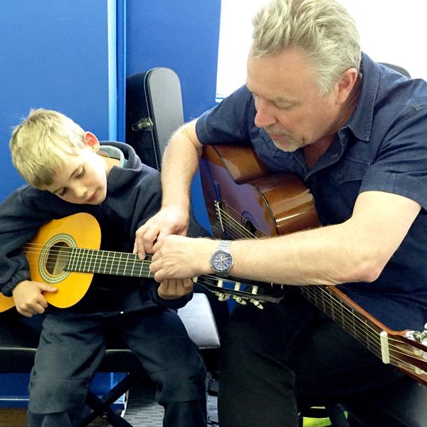 Greg Souter teaching Guitar