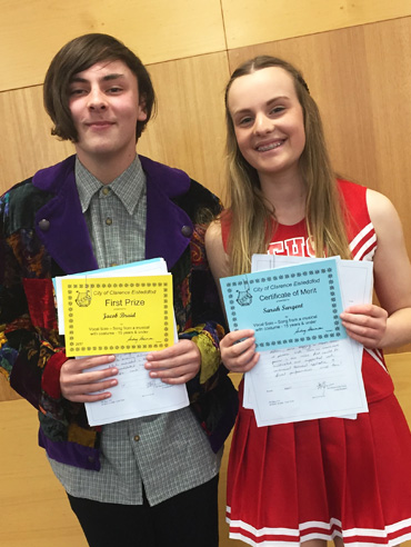 Students winning at the Eisteddfod