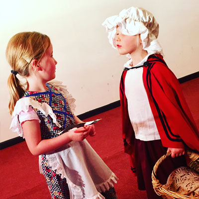 Red Riding Hood. school holiday activities for kids. Kids holiday workshops.