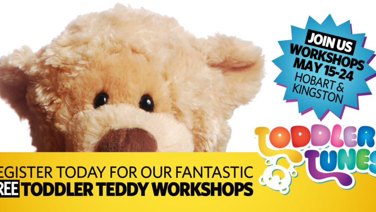 Join us for FREE Toddler Teddy workshops this May
