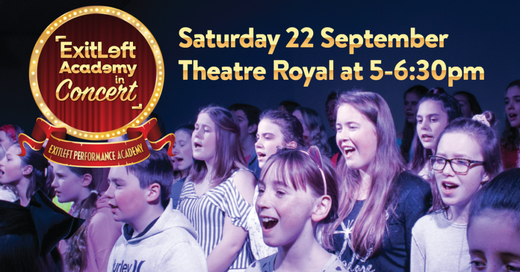 Students are singing and acting on the Theatre Royal stage